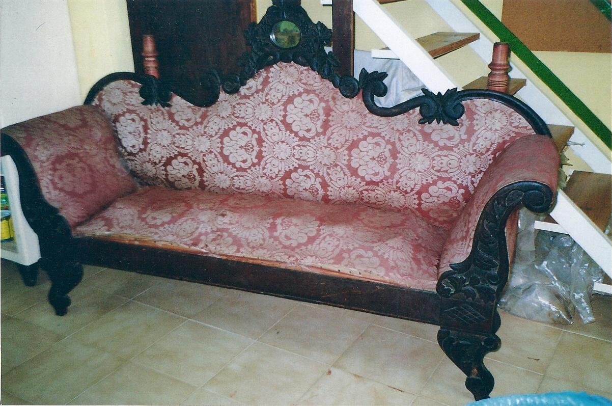 La restauradora bano y plata reciclaje de un sill n - Sillones antiguos para restaurar ...