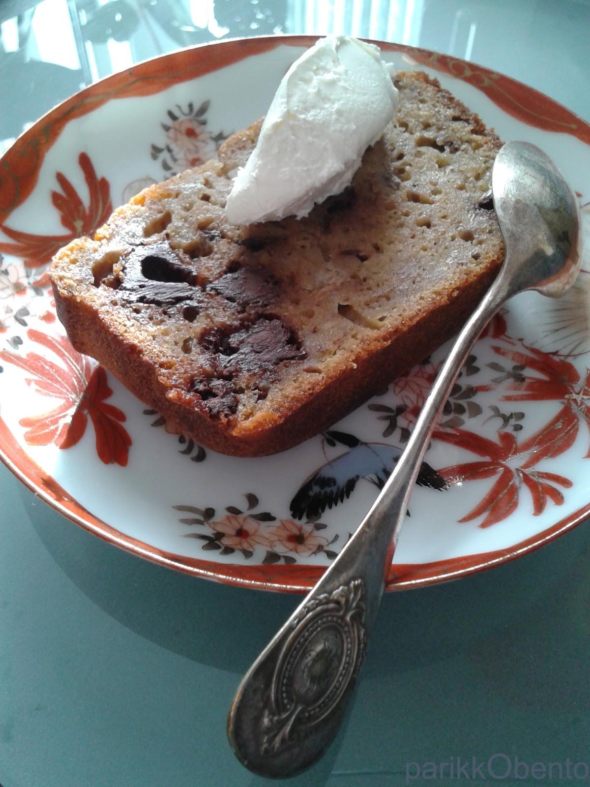 Cake Leger Pepites Chocolat Et Bananes