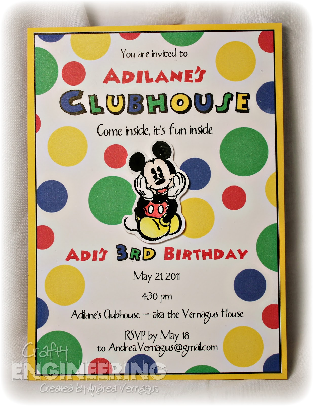 Crafty Engineering: A Mickey Mouse Clubhouse Birthday