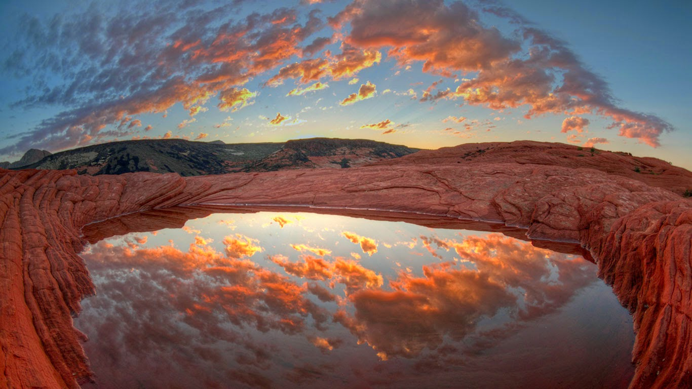 Butch Cassidy's bathtub in Snow Canyon State Park, Utah (© Kerrick James/Corbis) 177