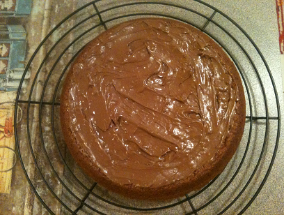 Paleo Vanilla Cake with Chocolate Frosting