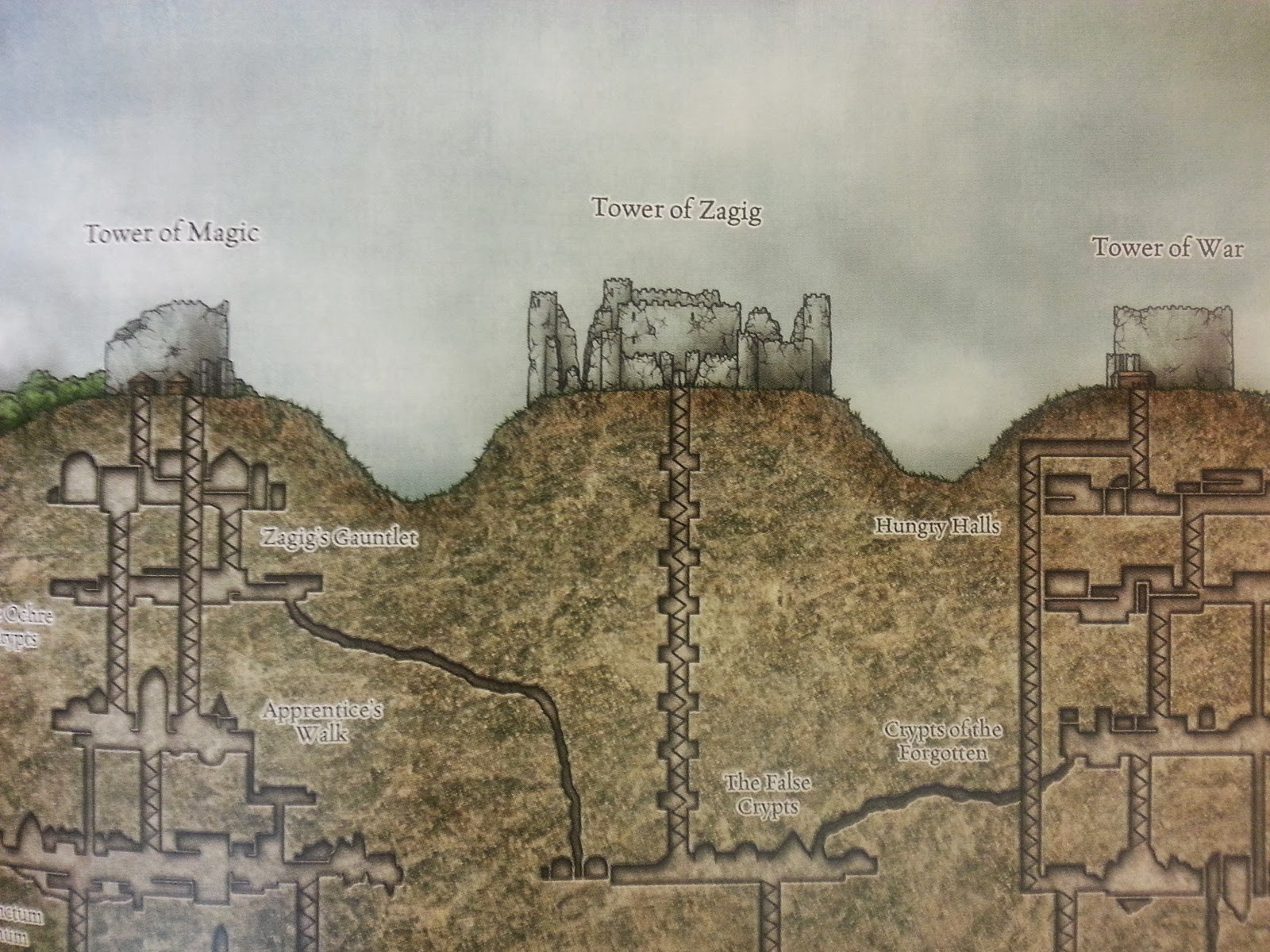 these are of course excellent redraws of material first seen in the module greyhawk ruins but all of the cartography in those books is atrocious