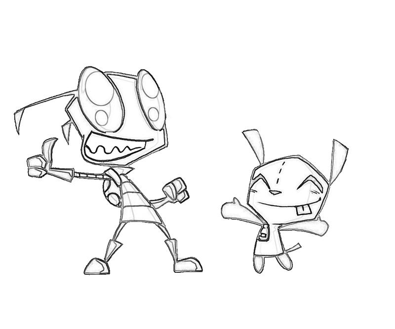 invader-zim-happy-coloring-pages