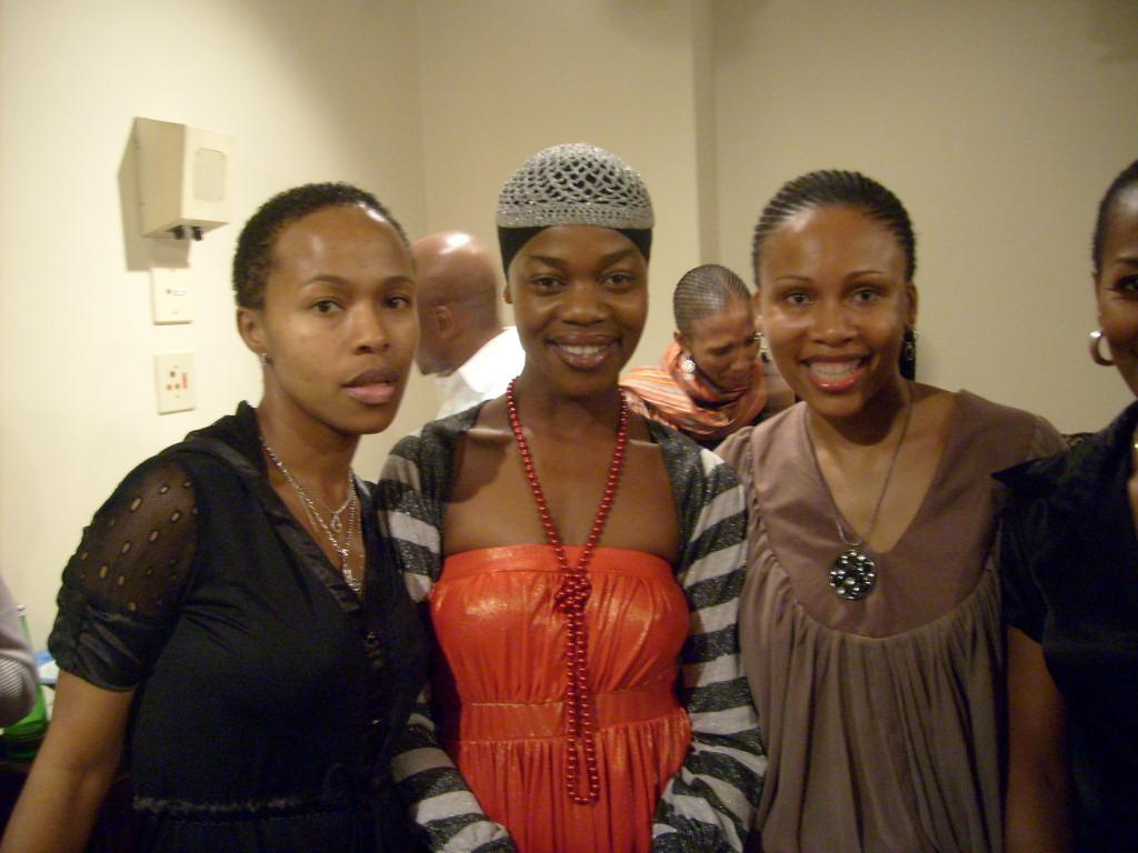 With Sindi Dlathu and Leleti Khumalo