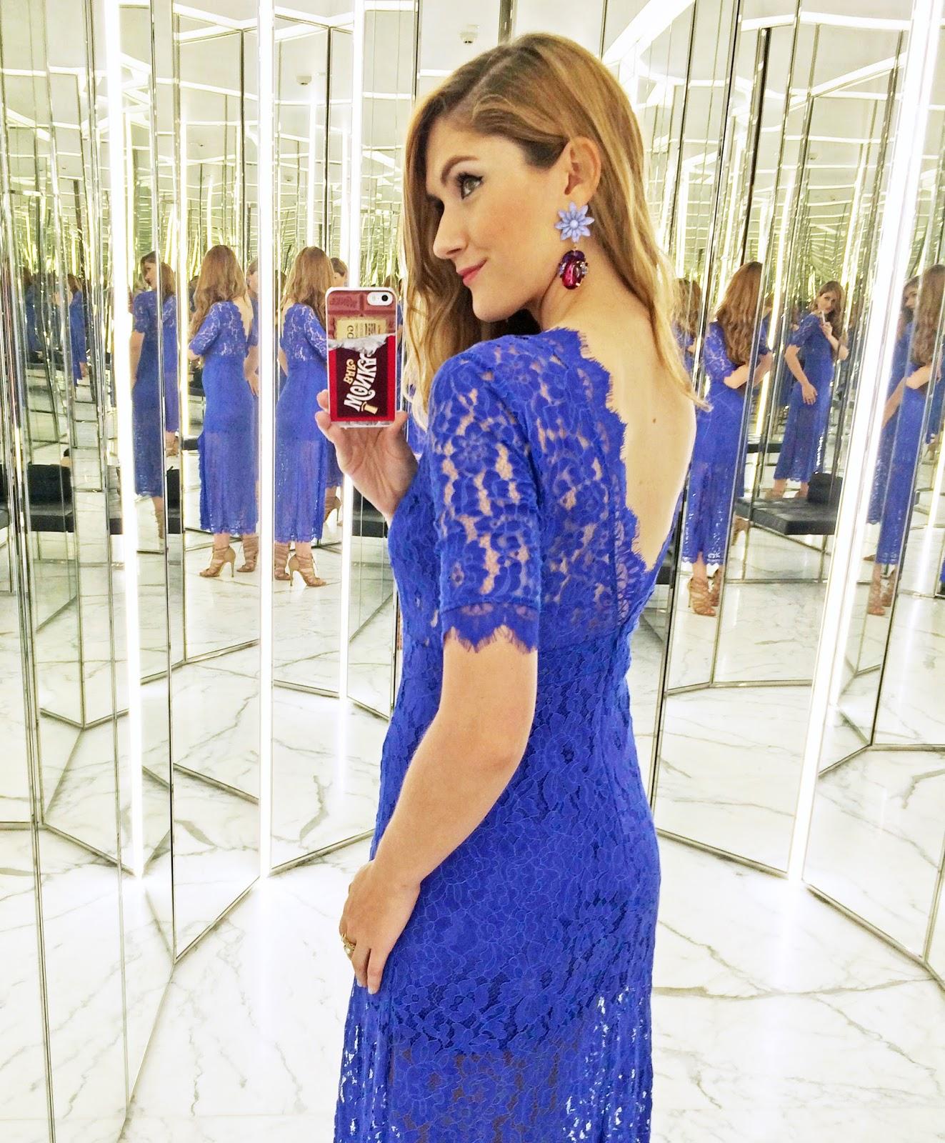 Sexy Blue Lace Dress