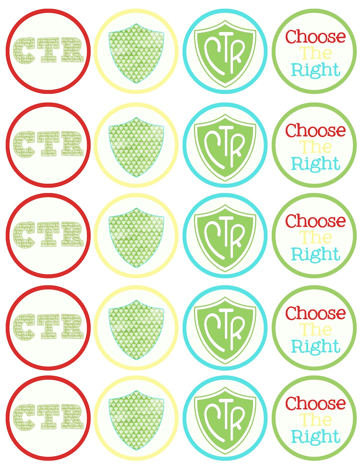 Cupcake Toppers : A Pocket full of LDS prints: CTR cupcake toppers - Free ...