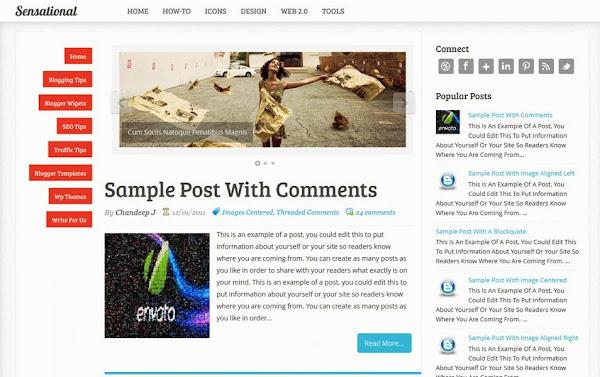 Sensational – A Responsive Blogger Template