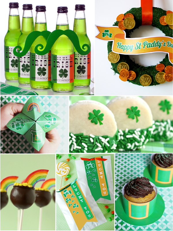 Last Minute St Patrick's Day Crafts, Decor, FREE Printables and Party Food