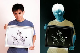 This is an art of Brian Lai, who draws in negative