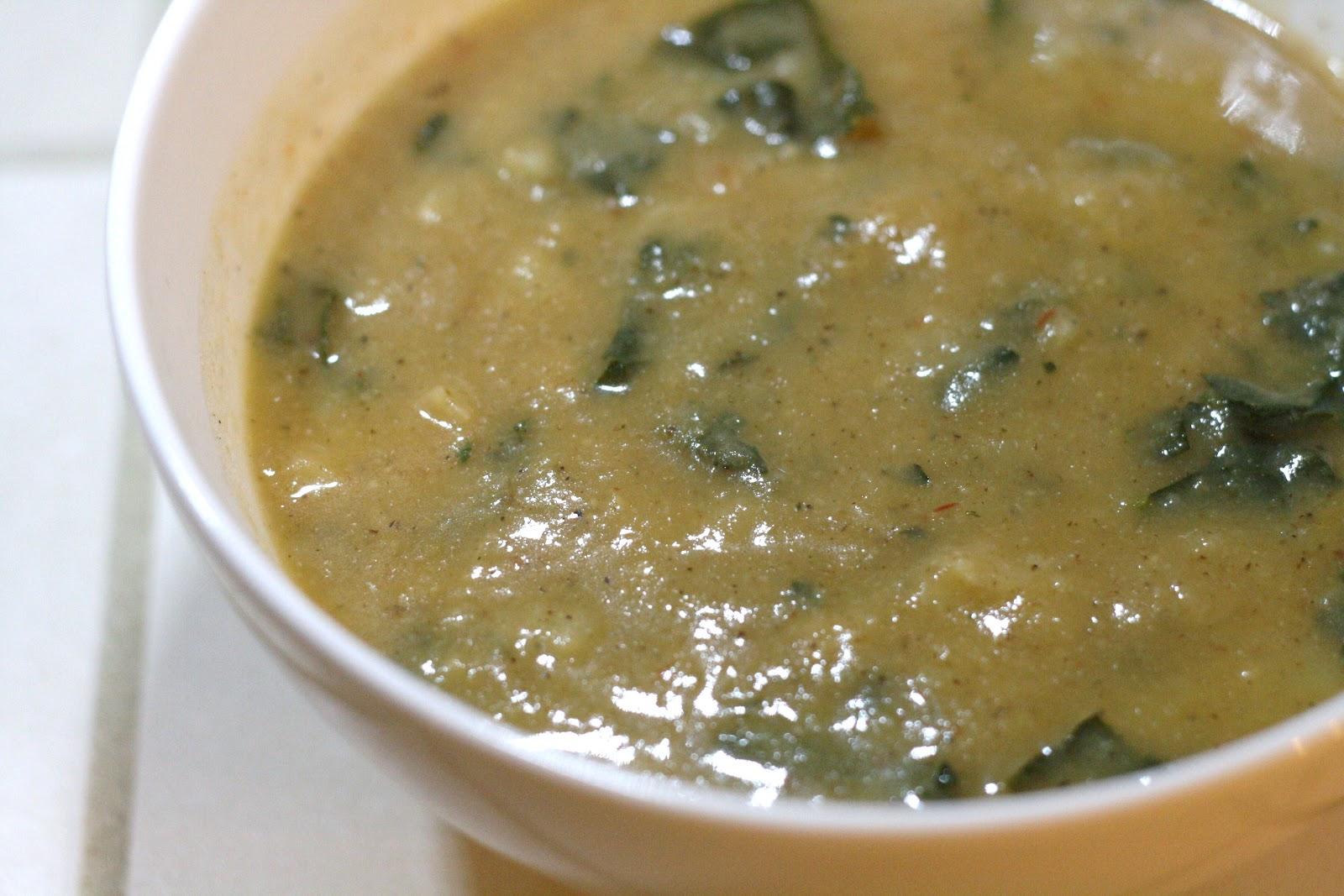 ... Recipe Box: Smoky Charred Cauliflower and Potato Soup with Kale