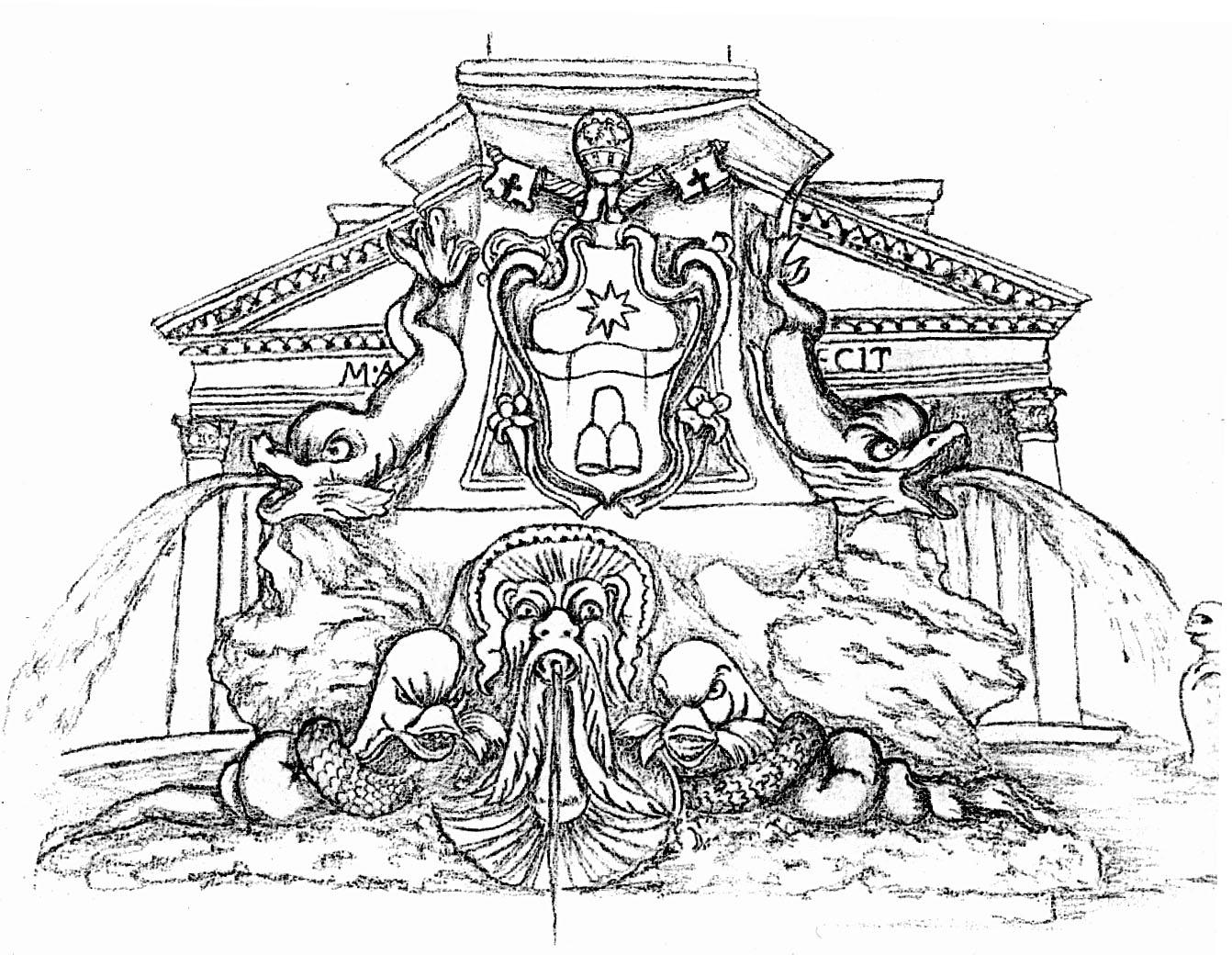 Fontane e chiese di roma e letture alternative fontana for Disegni di scantinati di sciopero