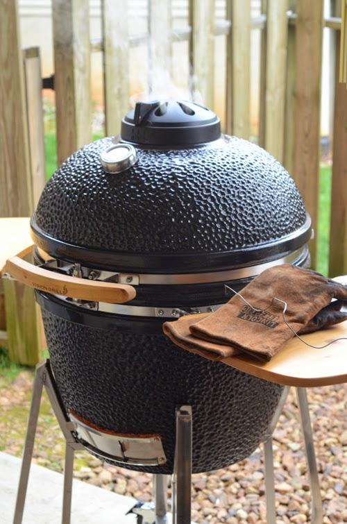 black kamado grill