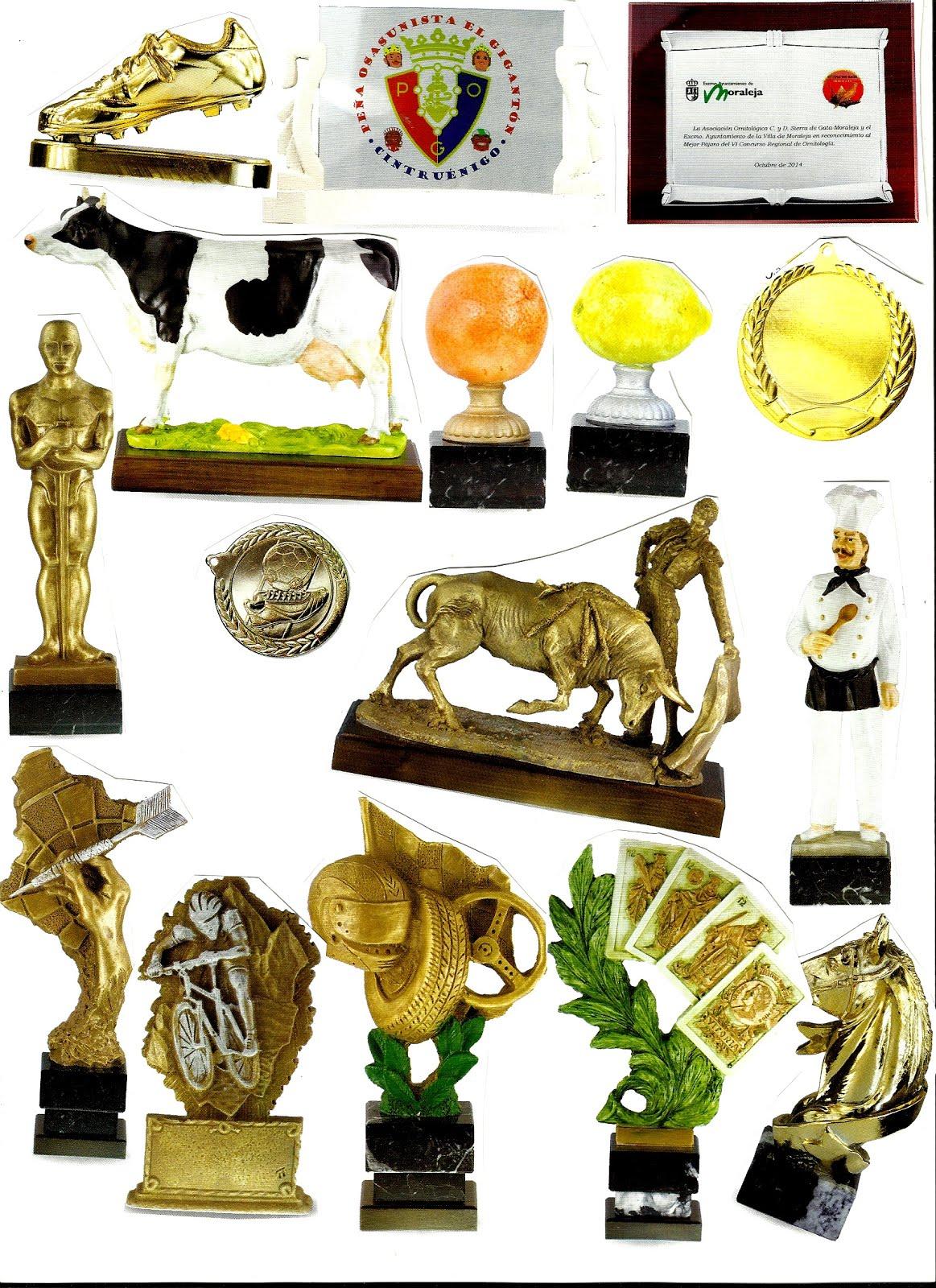 Trofeos deportivos, placas homenajes, medallas