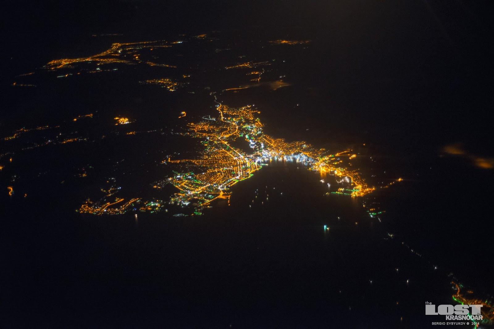 Новороссийск из самолета