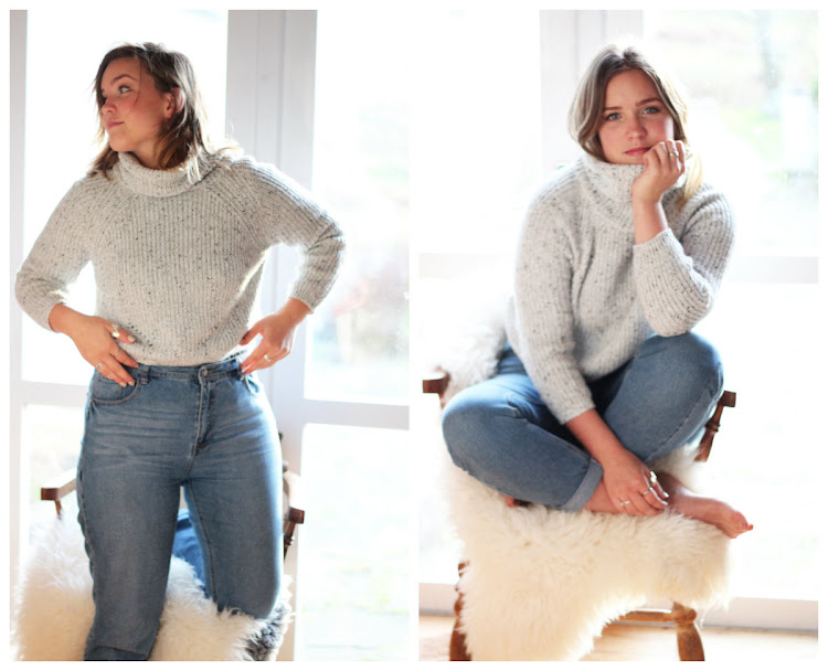 Chunky Knits, Sheinside Grey high neck cropped sweater, mom jeans, boyfriend jeans, street style, outfit post, 90s fashion, vintage jeans, irish fashion blogger, irish blogger, Latest Lil, Penneys mom jeans, Primark Mom jeans,