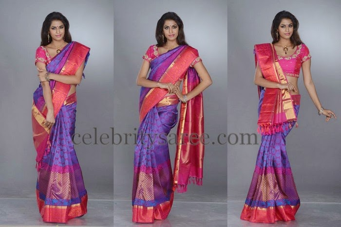 Purple Color Kalanjali Pattu Saree