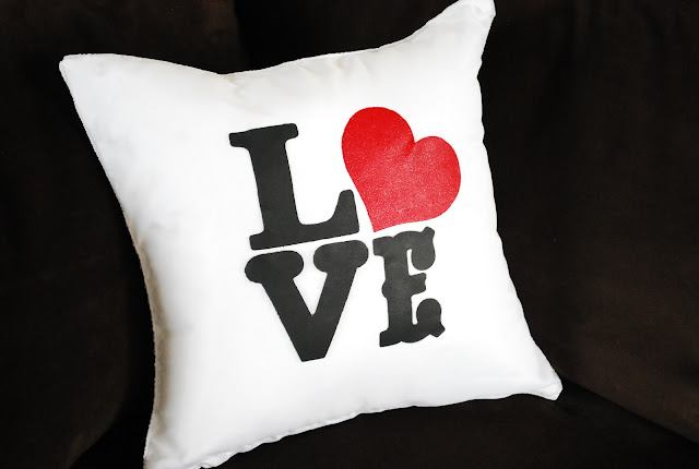 Love Pillow and Easy Valentine's Day decor