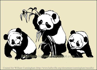 dessin des pandas (stylo pinceau Pentel) /></a></div><br /> <div align=