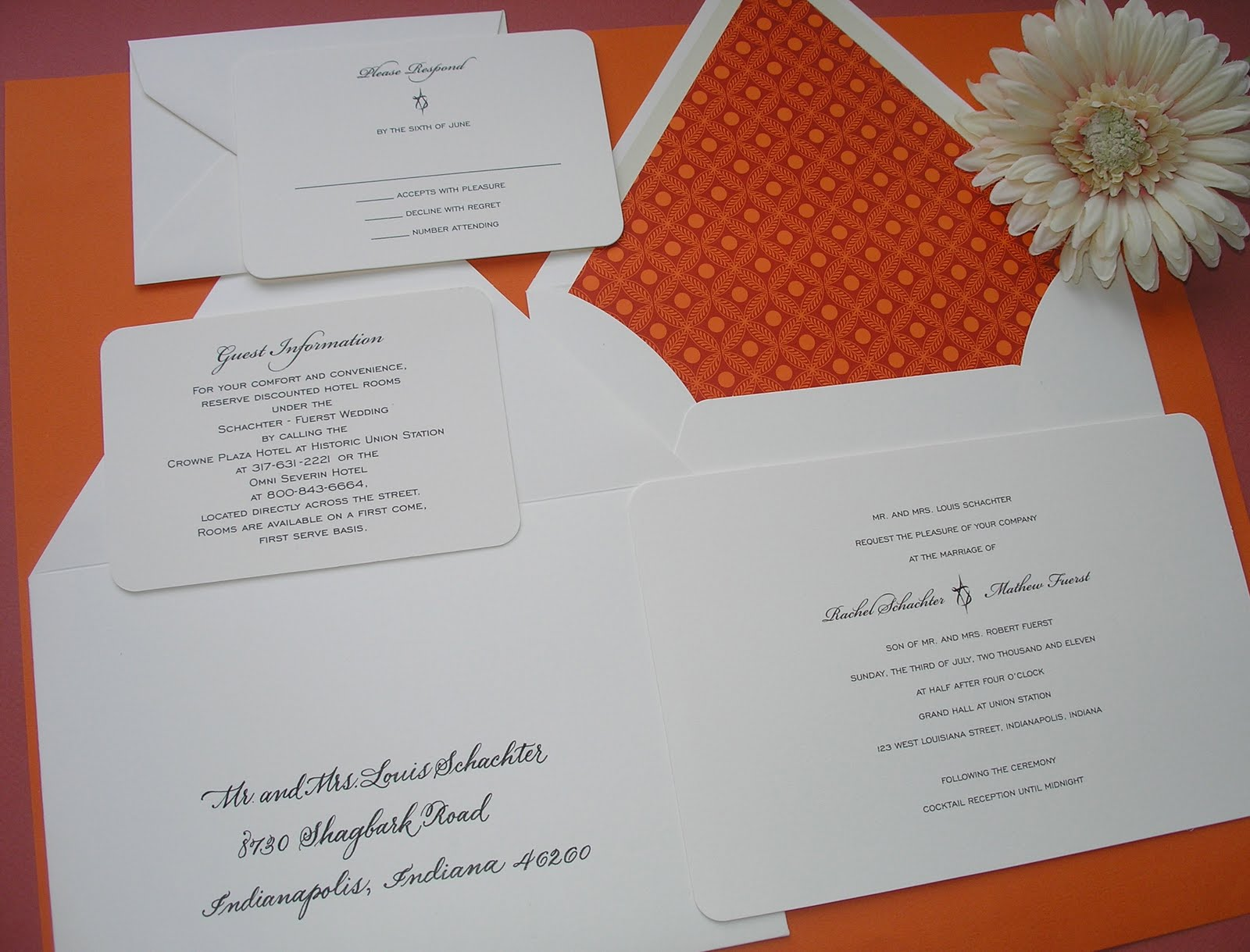 Wedding Calligraphy by Jane Farr: Indianapolis Wedding Calligraphy ...