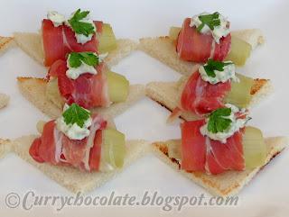 Canapés de alcachofas - Artichoke canapes