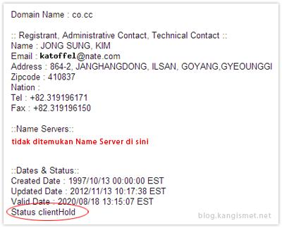 whois domain .co.cc