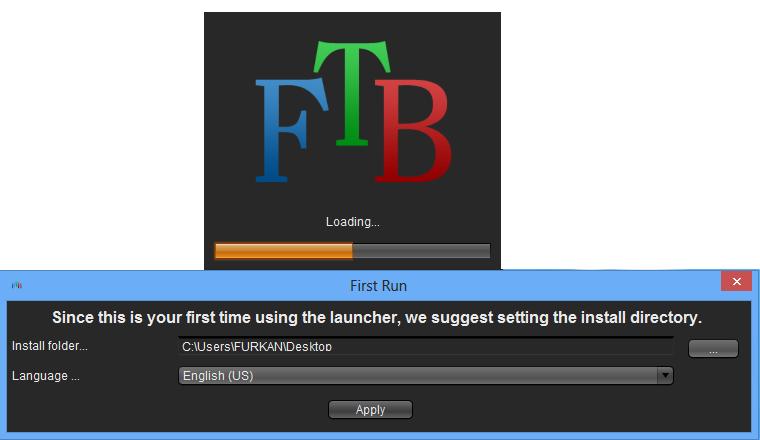 Launcher ekranı karşımıza geliyor burdan kendimize profil ...