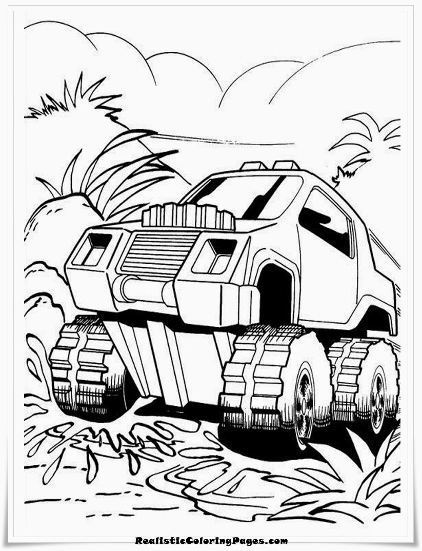 HotWheels Coloring Pages For Kids Printable
