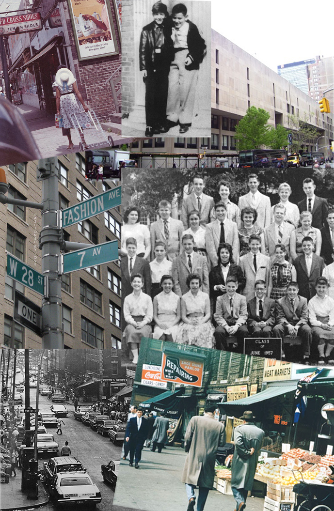 Calvin Klein & Barry Schwartz aged 9, Calvin (second row, center) in his ninth grade class photo in 1957, photos of Bronx in 1950-1960s via fashioned by love   Calvin Klein biography