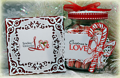 Stamps - Our Daily Bread Designs Jesus is the Reason, Candy Cane, ODBD Custom Fancy Ornaments Die