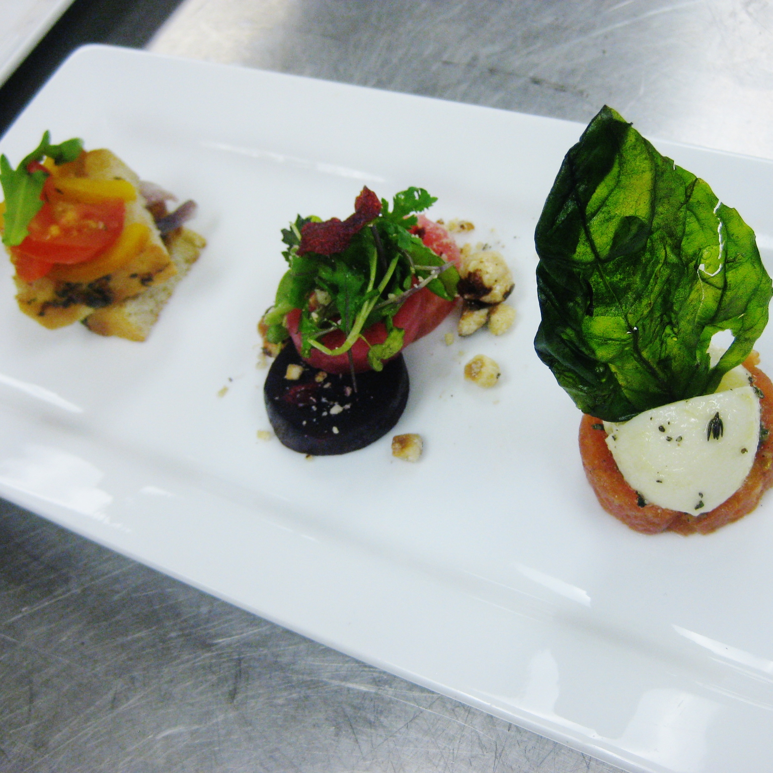 Insalata Trio: Herb Marinated Bocconcini, Tuscan Bread Salad with ...