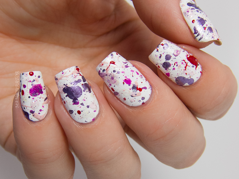 Color Splatter Nails Color Frenzy Nail Color in