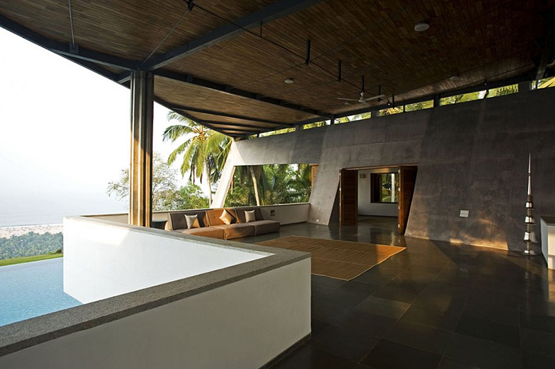 Slate Wall Living Room