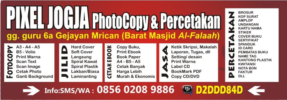 Pixel Jogja :: Jasa Cetak Copy Print Ebook Buku Murah di Jogja 0856 0208 9886