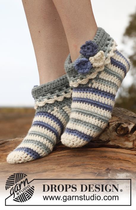 Excelente Patrón De Crochet Para Zapatillas Para Adultos Colección ...