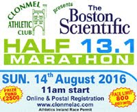 Clonmel Half-Marathon...Sun 14th Aug 2016...Limit of 800 entries