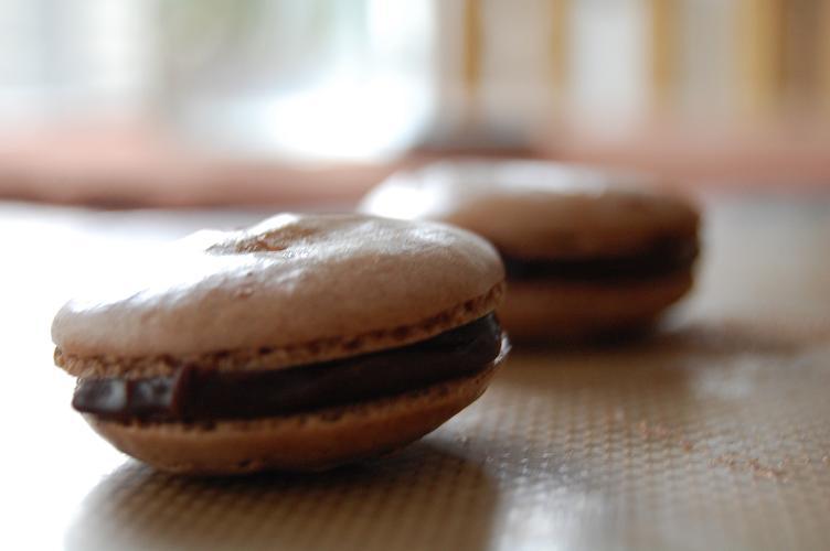 Berger Bakes: Oaxacan Cinnamon Chocolate Macarons