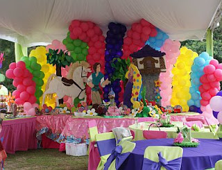 Tangled, Rapunzel, Children's Parties Decoration