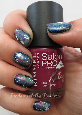 Galaxy nails with Rimmel Salon Pro Disco Fever