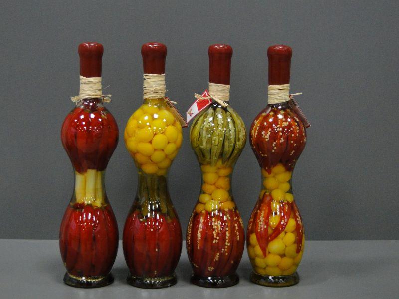 Бутылки с овощами своими руками