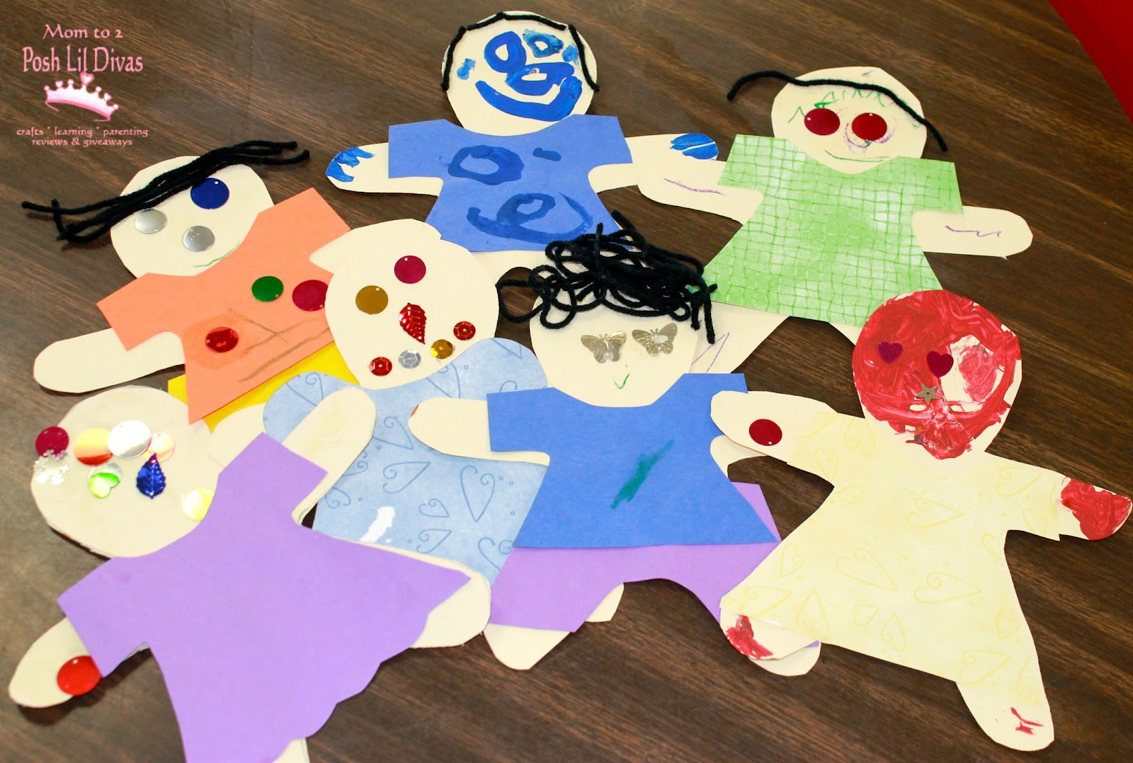 Marvelous me paper dolls for All about me toddler crafts
