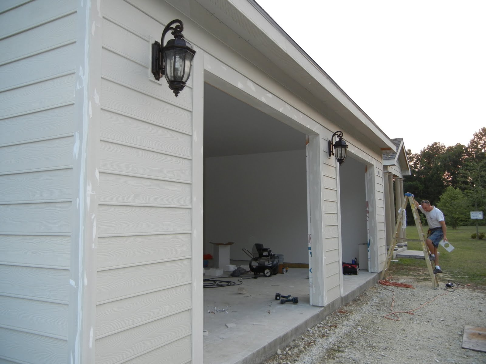 from led outdoor home img scratch outside garage lights our