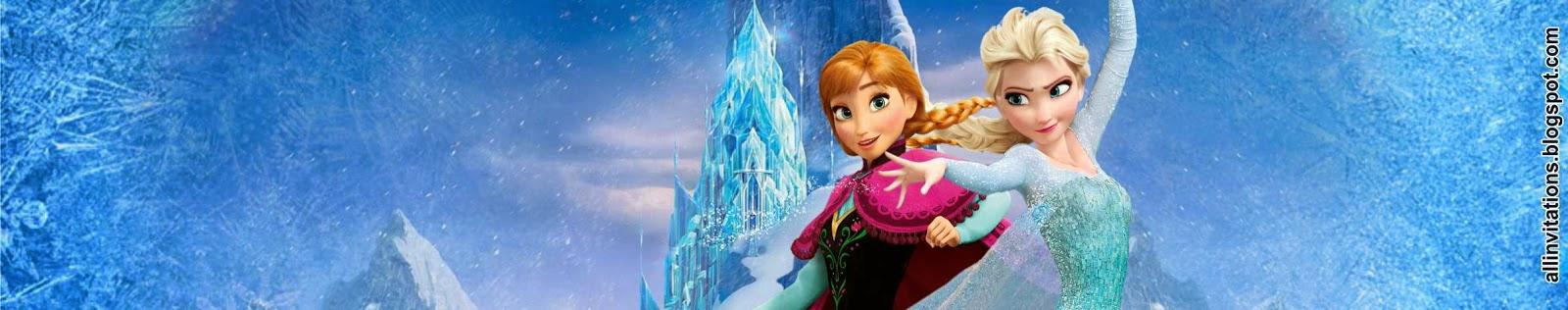 Plantilla para etiqueta de envase de botella con el tema de Frozen una aventura congelada