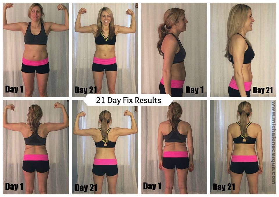 female 21 day fix transformation