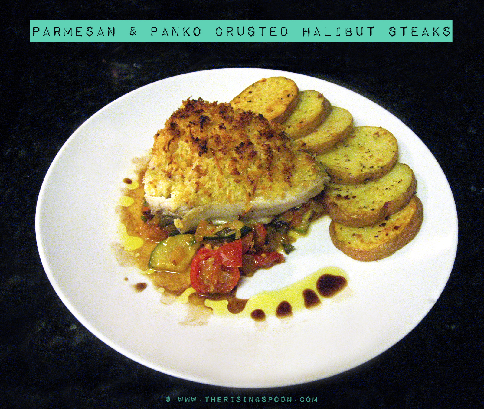 Parmesan & Panko-Crusted Halibut Steaks | The Rising Spoon: Parmesan ...