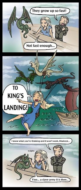 dragones pequeños aun - Juego de Tronos en los siete reinos