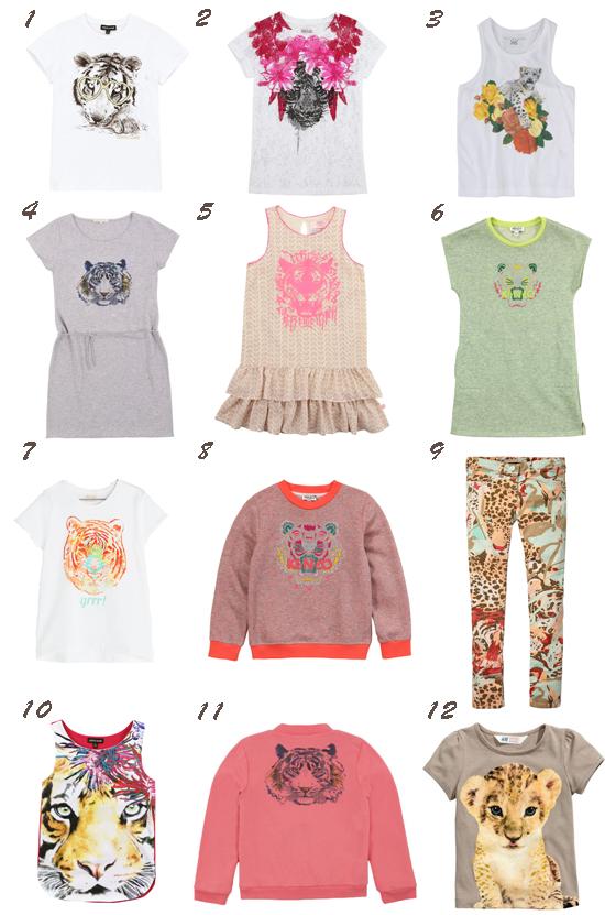 Tigres tendencia moda infantil