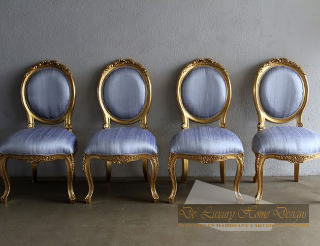 ANTIQUE FRENCH GOLD LEAF DINING CHAIR - ANTIQUE FRENCH GOLD LEAF DINING CHAIR ~ DELUXURINDO HOME DESIGNS