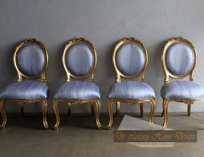 ... Antique Gold Leaf French Chairs