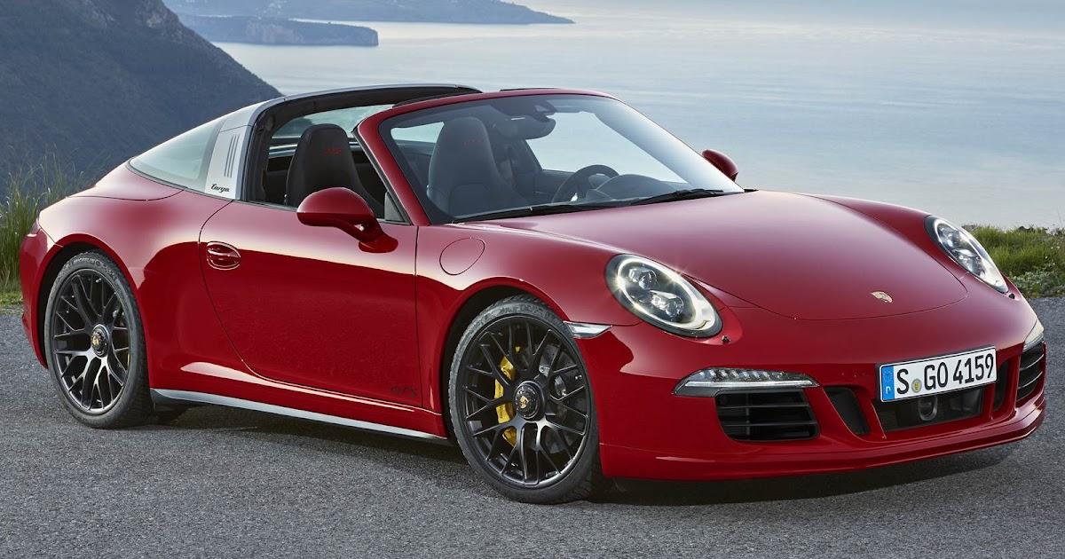 Porsche 911 Targa 4 GTS e nova Cayenne S Turbo são lançados no Salão do Automóvel de Detroit - EUA