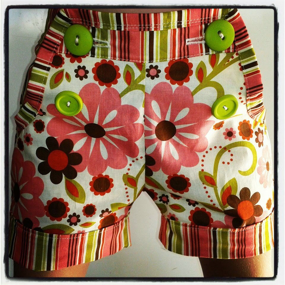 Funky flowers fabric